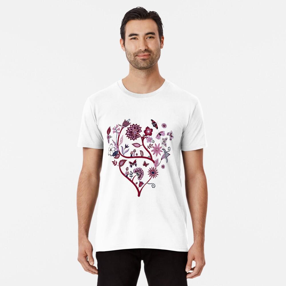 Fantasy Indian Floral - elegant, romantic pattern by Cecca Designs Men's Premium T-Shirt Front