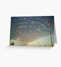 sunset chicago Greeting Card