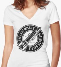 THE LAST MISSILE ULTIMATE BATTLE  T-SHIRT  Women's Fitted V-Neck T-Shirt