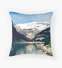 Lake Louise and Victoria Glacier Throw Pillow