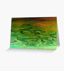 fluid landform i Greeting Card