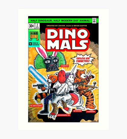 DINOMALS Cover Art Print
