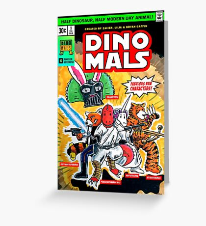 DINOMALS Cover Greeting Card