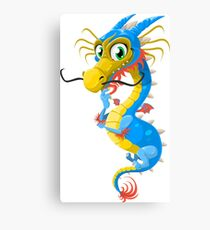 Thoughtful Floating Dragon Canvas Print