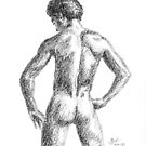 Male nude by Barnaby Edwards