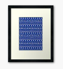 bonus blue Framed Print