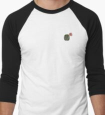 Watercolor fractal cactus with red flower Men's Baseball ¾ T-Shirt