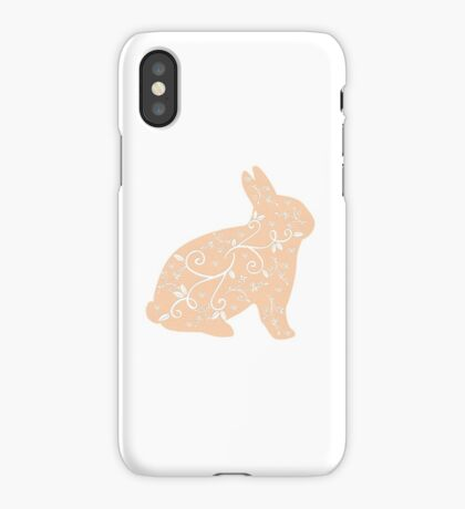 Peach Bunny iPhone Case