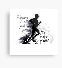 Runner - Running Is Not Just A Sport.  Metal Print