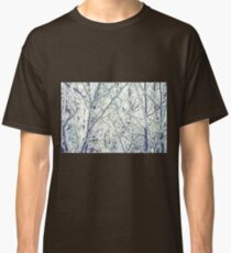 Retro Trees in Hoarfrost 2 Classic T-Shirt