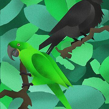 Parrot & Crow by HenryFaulkner