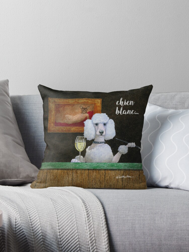 Will Bullas / pillow / tote / chien blanc... / humor / animals by Will Bullas
