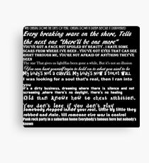 Songs of Innocence Quotes Canvas Print