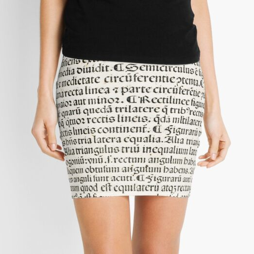 Euclid decorative printed initial  – State Library Victoria Mini Skirt