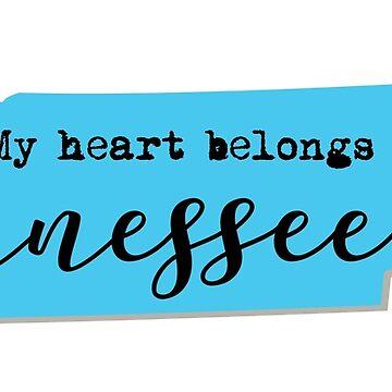 My Heart Belongs in Tennessee by sddesignco