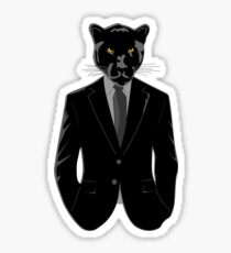 Panther in Black Suit Sticker
