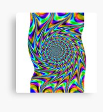 spiral out with a twist Canvas Print