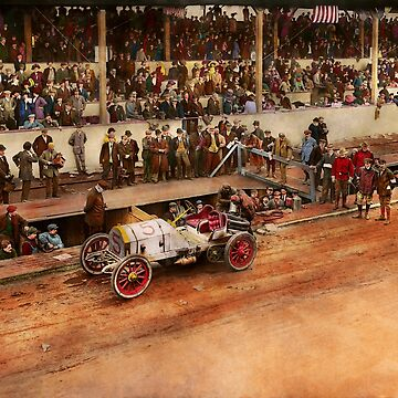 Car Race - Racing to get gas 1908 by mikesavad