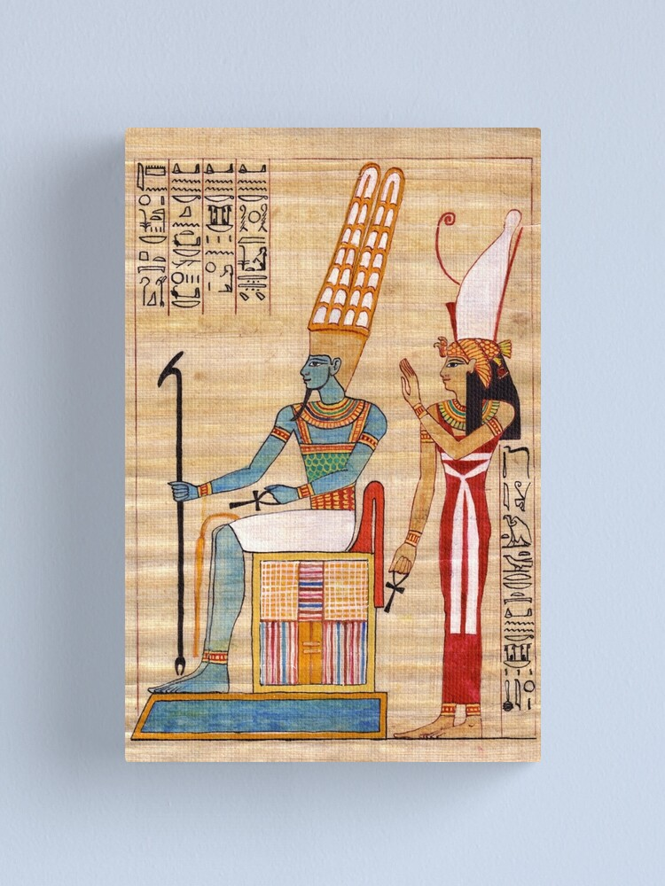 Alternate view of Amun & Mut Receive offerings Canvas Print