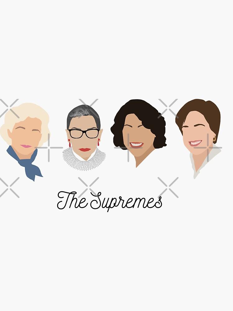 Die Supremes (schwarzer Text / weißer Hintergrund) von thefilmartist