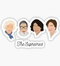 The Supremes (black text/white background) Sticker