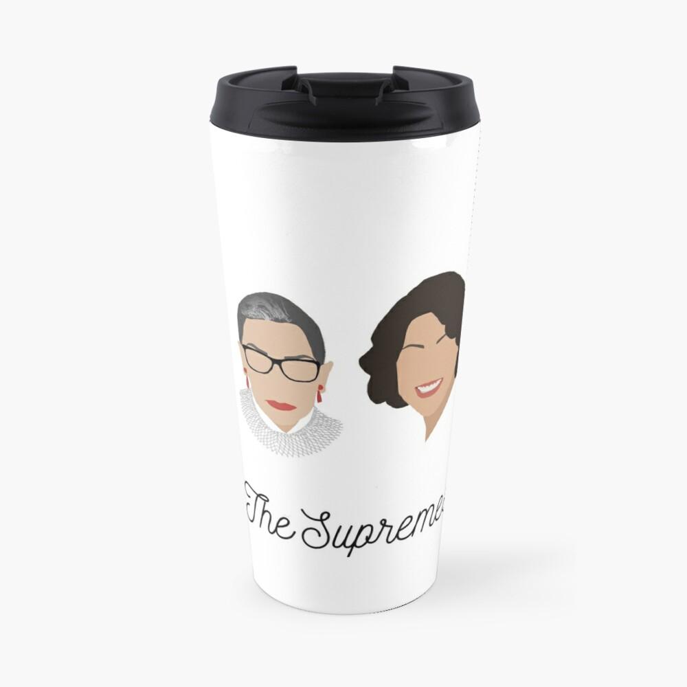 The Supremes (black text/white background) Travel Mug