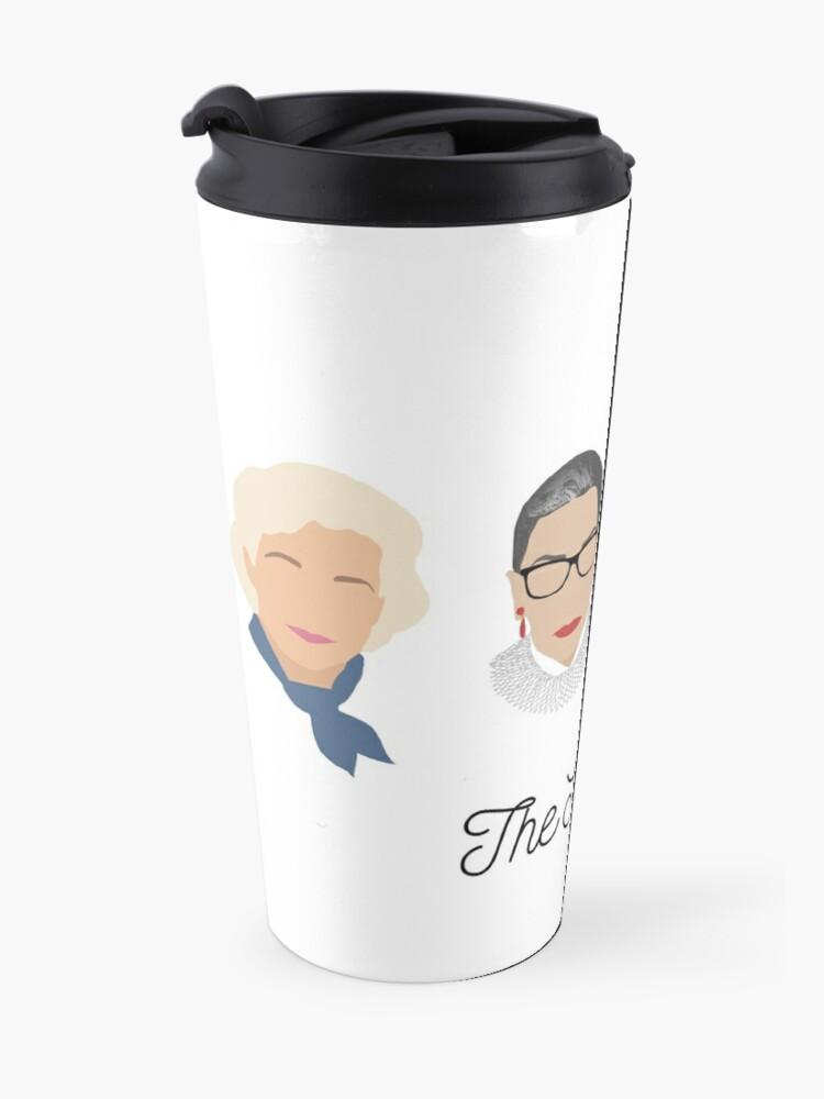 Alternate view of The Supremes (black text/white background) Travel Mug