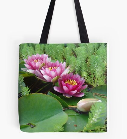 Waterlilies and Parrot Feather Tote Bag