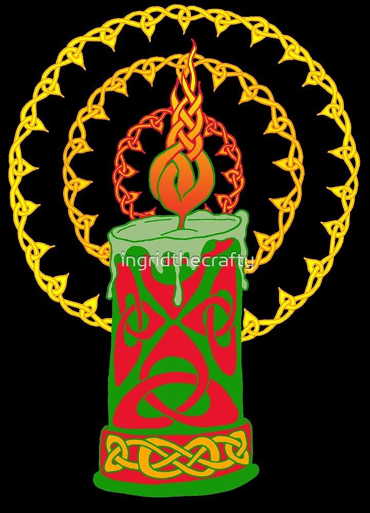 Celtic Candle by ingridthecrafty