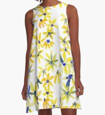 Blue Eyed Susan A-Line Dress