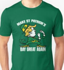 Trump Make St Patricks Day Great Again Shirt - funny Irish tshirt  trump shirts Unisex T-Shirt