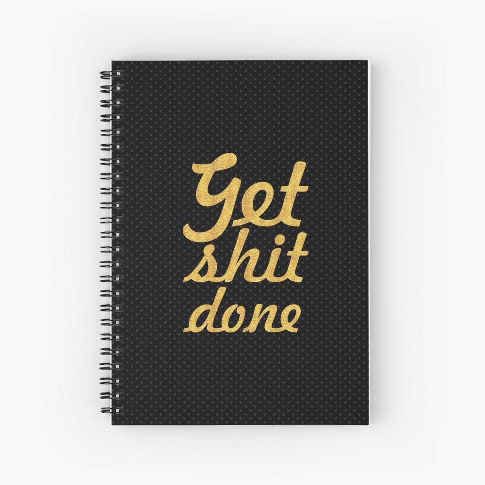 Mierda, gimnasia, motivación, cita Cuaderno de espiral