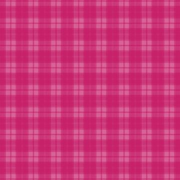 Bold Hot Pink Peacock Plaid by coverinlove