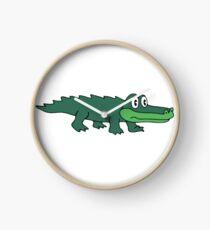 King Gizzard Gator Green Clock