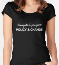 Policy and Change Gun Control T-Shirt Women's Fitted Scoop T-Shirt