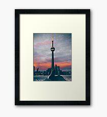 Sunset in Toronto Framed Print