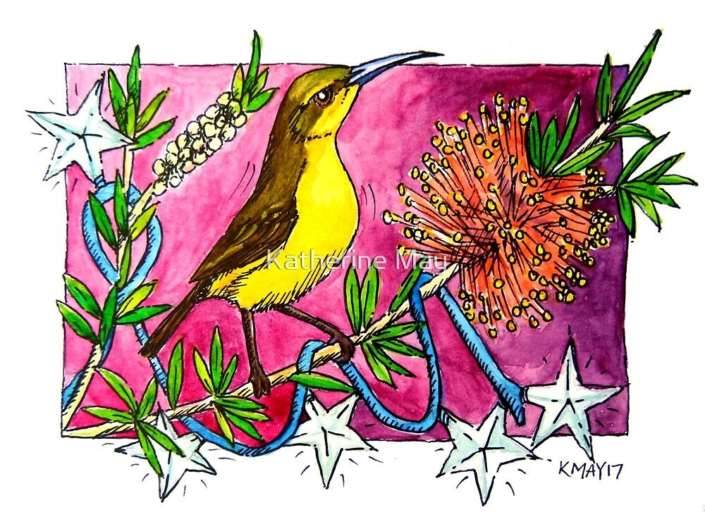 Christmas Stars Honeyeater by Katherine May