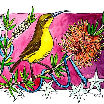 Christmas Stars Honeyeater by amayzing