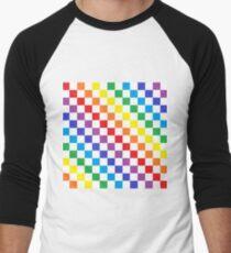 Karierter Regenbogen Baseballshirt für Männer