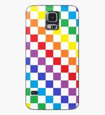 Karierter Regenbogen Hülle & Klebefolie für Samsung Galaxy