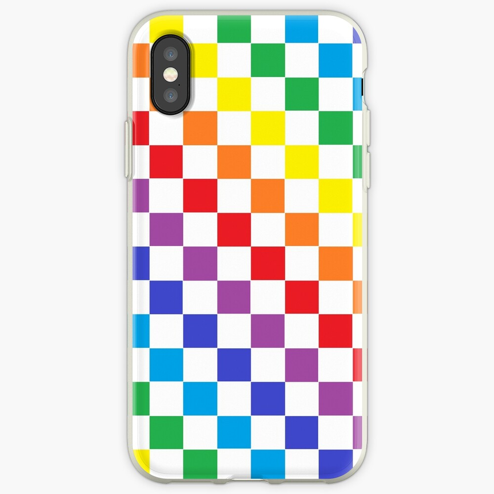Checkered Rainbow  iPhone Case & Cover