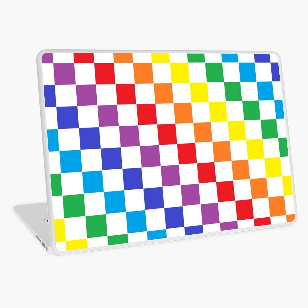 Checkered Rainbow  Laptop Skin