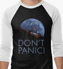 Spacex DON'T PANIC In Space Men's Baseball ¾ T-Shirt