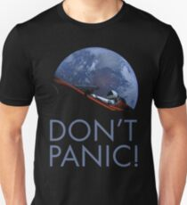 Spacex DON'T PANIC In Space Unisex T-Shirt
