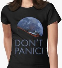 Spacex DON'T PANIC In Space Women's Fitted T-Shirt