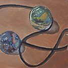 Still-Life marbles and necklace by IreKire