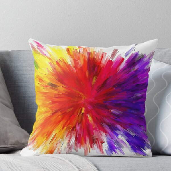 Colour Explosion Throw Pillow