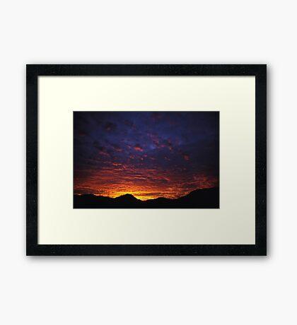 Australian Outback Sunrise Framed Print