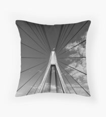 Anzac Bridge Symmetry Throw Pillow