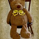 Storybook Teddy Bear with a Ribbon by SummerJade